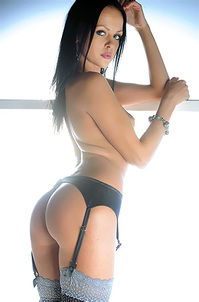 Lidia With Sexy Ass Posing In Black Stockings